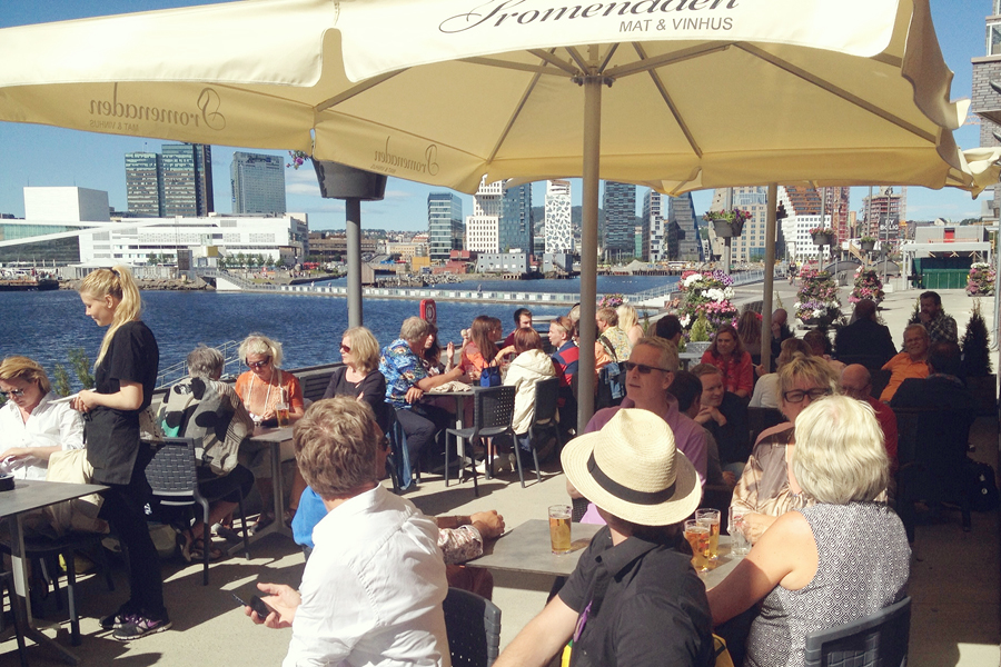 Havnepromenaden på sørenga i Oslo